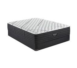 Simmons Cal King size Extra Firm Mattress and Standard Box Springs Set beautyrest black l class extra firm
