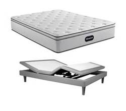 Simmons Beautyrest Full Size Luxury Firm Pillow Top Mattress and Adjustable Base Bundles beautyrest br800 medium pillow top full size mattress motion perfect adjustable base