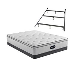 Simmons Beautyrest King Size Luxury Plush Pillow Top Mattress and Boxspring Sets With Bed Frame beautyrest 800 ppt
