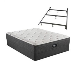 Simmons King size Luxury Firm Mattress and Standard Box Springs Set With Frame beautyrest silver brs900 medium et