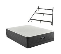 Simmons Full size Luxury Plush Mattress and Low Profile Box Springs Set beautyrest hybrid brx1000 c plush