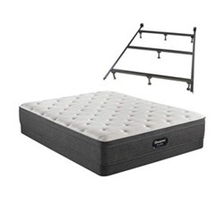 Simmons Full size Luxury Plush Mattress and Low Profile Box Springs Set beautyrest silver brs900 pl et