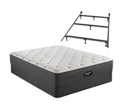 Simmons Beautyrest Cal King Size Luxury Plush Mattress and Boxspring Sets With Bed Frame beautyrest silver brs900 pl et