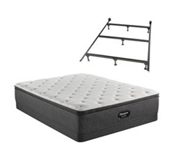 Simmons Beautyrest Twin XL Size Luxury Plush Pillow Top Mattress and Boxspring Sets With Bed Frame beautyrest silver brs900 plush pillow top