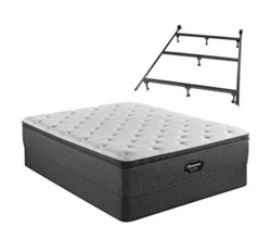 Simmons Beautyrest King Size Luxury Plush Pillow Top Mattress and Boxspring Sets With Bed Frame beautyrest silver brs900 plush pillow top