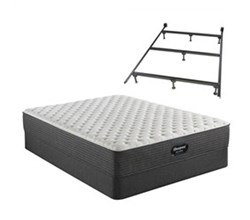 Simmons Beautyrest King Size Extra Firm Mattress and Boxspring Sets With Bed Frame Beautyrest Silver BRS900 Extra Firm