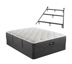Simmons King size Luxury Firm Mattress and Standard Box Springs Set With Frame beautyrest silver brs900 c medium