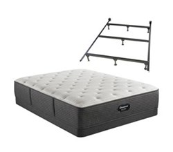 Simmons Full size Luxury Plush Mattress and Low Profile Box Springs Set beautyrest silver brs900 c pl