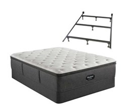 Simmons Beautyrest Twin Size Luxury Firm Pillow Top Mattress and Boxspring Sets With Bed Frame beautyrest silver brs900 c medium pillow top