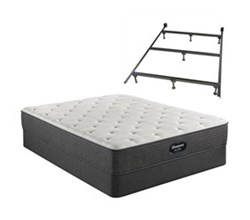 Simmons King size Luxury Firm Mattress and Standard Box Springs Set With Frame beautyrest silver brs900 medium