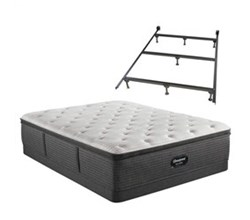Simmons Beautyrest King Size Luxury Plush Pillow Top Mattress and Boxspring Sets With Bed Frame beautyrest silver brs900 c plush pillow top