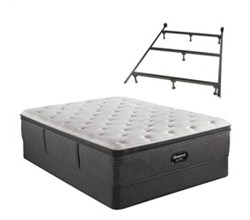 Simmons Beautyrest Twin XL Size Luxury Plush Pillow Top Mattress and Boxspring Sets With Bed Frame beautyrest silver brs900 c plush pillow top
