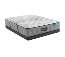 Simmons Full size Luxury Plush Mattress and Low Profile Box Springs Set beautyrest harmony lux carbon pl