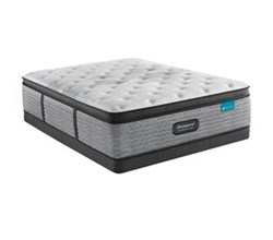 Simmons King size Luxury Firm Pillow Top Mattress and Low Profile Box Springs Set beautyrest harmony lux carbon medium pillow top