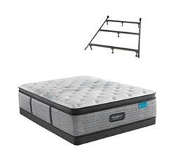 Simmons Beautyrest Twin Size Luxury Firm Pillow Top Mattress and Boxspring Sets With Bed Frame beautyrest harmony lux carbon medium pillow top